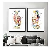 Chenjiaxu Póster Nórdico Médico Clínico Del Abdomen Del Cuerpo Humano De La Anatomía, Arte De La Pared, Pintura En Lienzo, Cuadros De Pared, 40X60Cm X2 Sin Marco