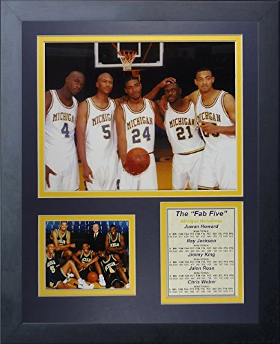 Michigan Wolverines NCAA Double Matted 8x10 Photograph University of Michigan Team Logo