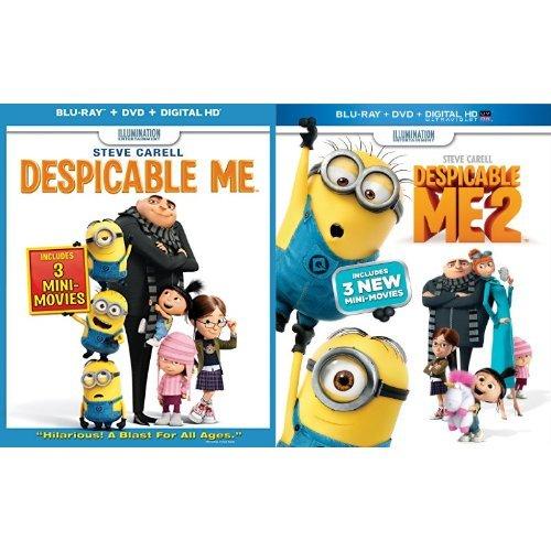 Despicable Me + Despicable Me 2 (Blu-ray+ DVD+ Digital HD)