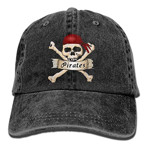 HujuTM Adults Pirate Skull Crossbones Scarf Adjustable Casual Cool Baseball Cap Retro Cowboy Hat Cotton Dyed Caps