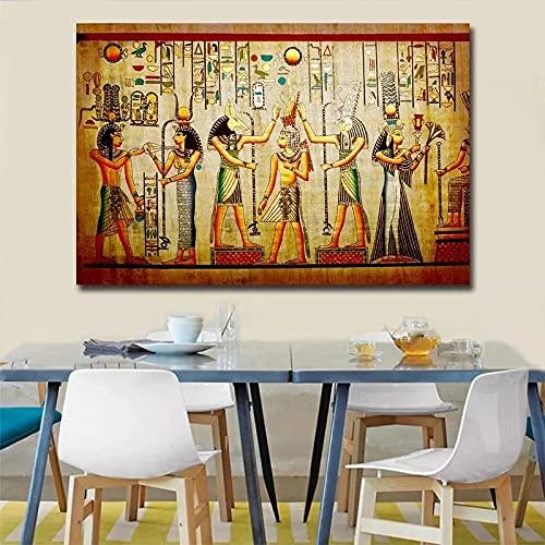 Personajes del Antiguo Egipto Arte lona pintura cartel pintura arte de la paredimágenes,para sala de estar decora,Sin marco -40x60cm