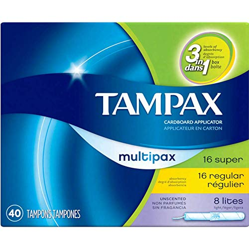 Tampax Multipax Unscented 40 Tampons