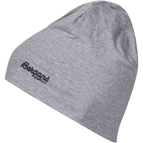 Bergans Youth Cotton Beanie Grau, Kopfbedeckung, Größe One Size - Farbe Grey Melange