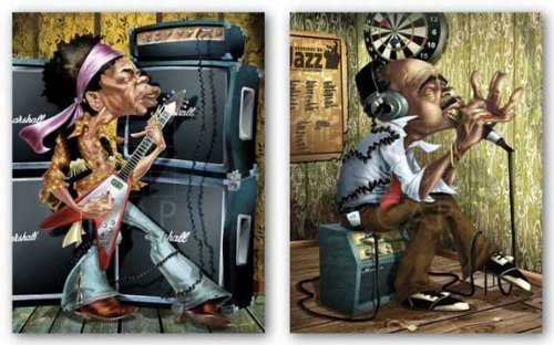 Bluesman Harmonica and The Young Guitarist Set by Adam Perez 11