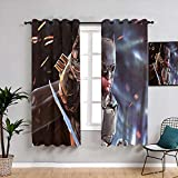 Matt Flowe Batman Injustice Mobile Game Rideaux lavables pour chambre de garçons filles 72 x 63 cm
