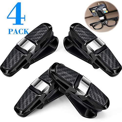Boao 4 Packs Glasses Holders for Car Sun Visor, Sunglasses Holder Clip...