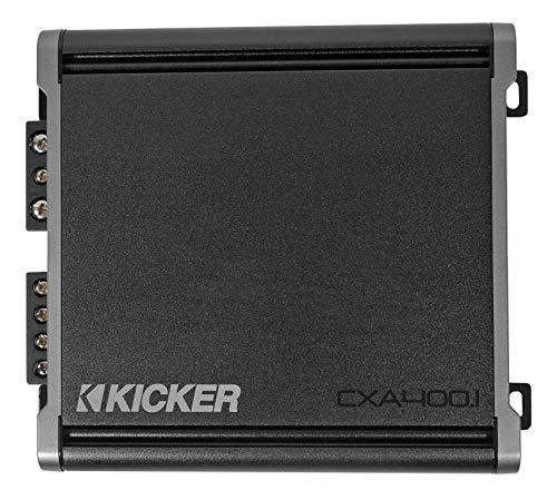 KICKER CX400.1 400 Watt Class D Mono Amplifier for Car Audio Speakers, Black