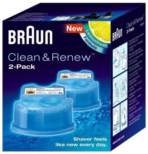 Braun Shaver Clean & Re Refill Cartridges CCR-2 60 Shaver Cleaning...