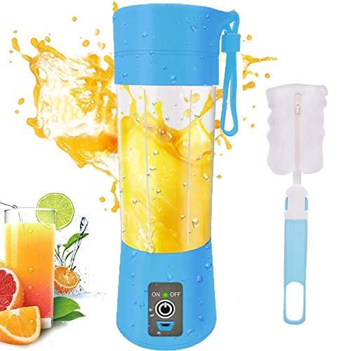 Portable Personal Blender, Household Juicer fruit shake Mixer -Six Blades, BPA Free 380ml Baby cooking machine with USB Charger