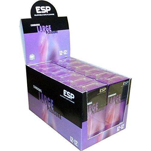 ESP Large - 12x12 (144) Kondome mit 56mm Breite - vegan hergestellt
