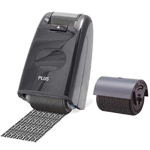 Plus Japan Guard-Your-ID Camouflage Self Inking Roller Stamp...