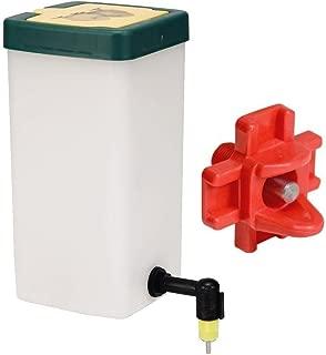 RentACoop Chick Waterer 1Liter Drinker Plus Red Versatile Nipple. Red or Green Lid Randomly (Pack of 1)