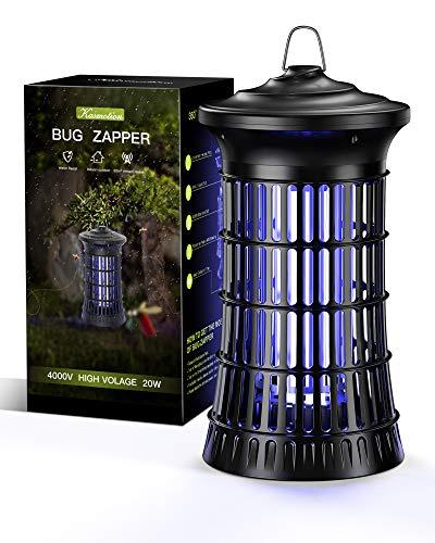 Kasmotion Lámpara Antimosquitos Eléctrico,20W UV LED Mosquito Lámpara Trampa,Aparato Antimosquitos para Insectos,Polillas, para Dormitorio,Salón,Cocina,Jardín