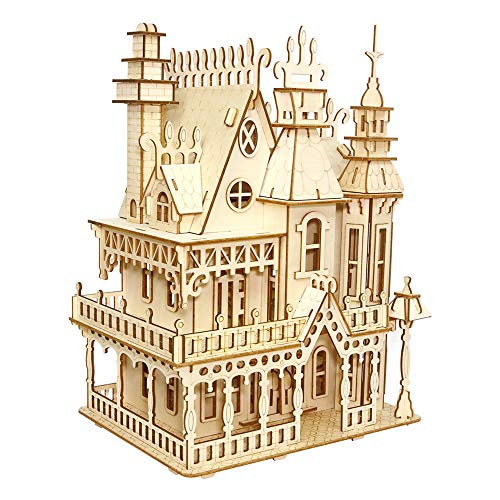 ROBOX 3D Puzzles for Adults Crafts Building Wooden Puzzle Laser Cutting Wood Craft Model Kit 3D-Puzzle Assembled Blocks Party Home House Decoration Gifts for Kids