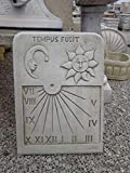 Catart Reloj de Sol en hormigón-Piedra Pared Exterior Tempus Fugit 59X38cm.