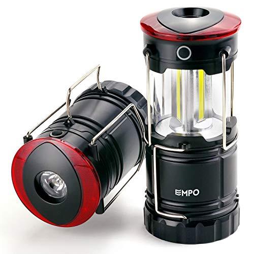 EMPO LED Lanterne Portable de Camping pour Extérieur - Lanterne Magnétique, Torche et Balise de Détresse Tout-en-Un - Lampe Torche Fiable de Randonnée, Pêche, Voiture, Urgences - Noir