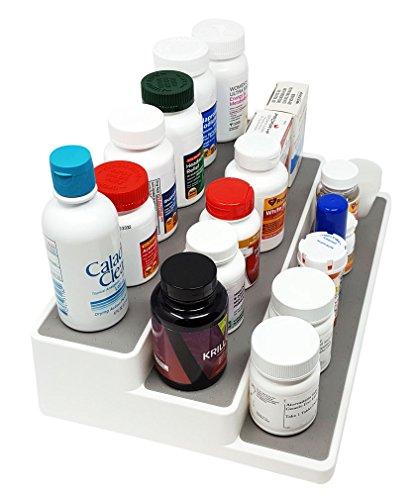 3-Tiered Medication, Vitamin, Supplement Shelf Cabinet Organizer