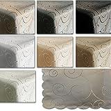 JEMIDI Tischdecke Ornamente Seidenglanz Edel Tisch Decke Tafeldecke 31 Größen und 7 Farben Grau 110×140 - 3