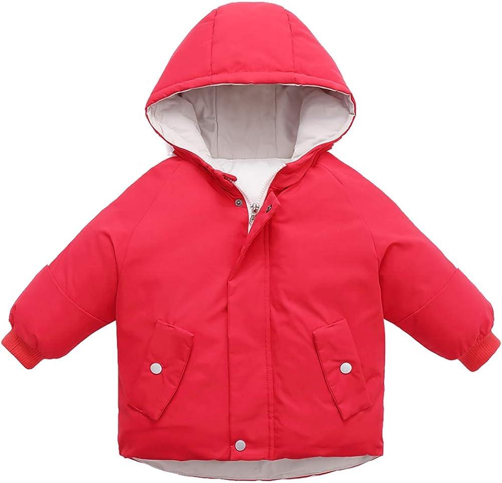 Happy Cherry Kids Winter Down Coats Warm Thickened Windproof Hooded Girls Boys Winter Jacket