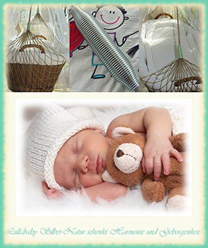 Lullababy® BabyMove, die Federwiege vom Erfinder des Federwiegens – Sicherheit durch neue getemperte Sanftschwingfeder. Feder und naturfarbenes Netz - bis 25 Kg