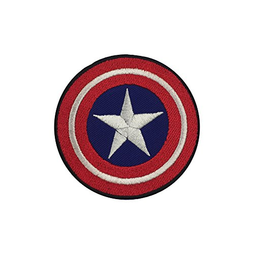 Parche bordado con el logotipo del Capitán América para planchar o coser sobre la camiseta, chaqueta o bolsa