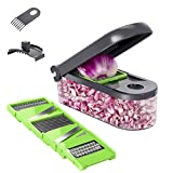 ChefHachiro Vegetable Chopper, Mandoline Cucumber Slicer, Onion Cube Cutter Dicer with Container,...