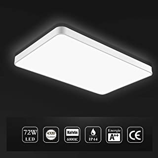 Viugreum LED Flush Mount Ceiling Light, 72W 4320 Lumens Square Panel Light, 6000K (Daylight White) Downlights Lighting Fixture for Kitchen, Hallway, Bathroom, Stairwell, Fast Shipping from USA
