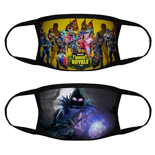 Kids Fortnite Christmas Face Mask Bandanas Protection Boys Girls Neck Gaiter Tube Headband - 2 PCS