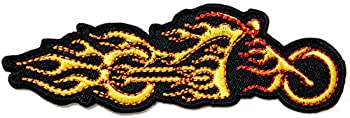 Motorcycles Flame Fire Ghost Rider Logo Biker Jacket Back Patch Sew Iron on Embroidered Badge Custom