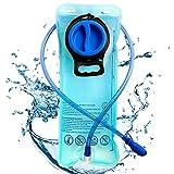 Sacca idratazione Portatile, BESTZY 2L Sacca da Vescica, Water Bladder, Portatile Sistema di Idratazione, per Ciclismo, Escursionismo, Camminata (Blu)