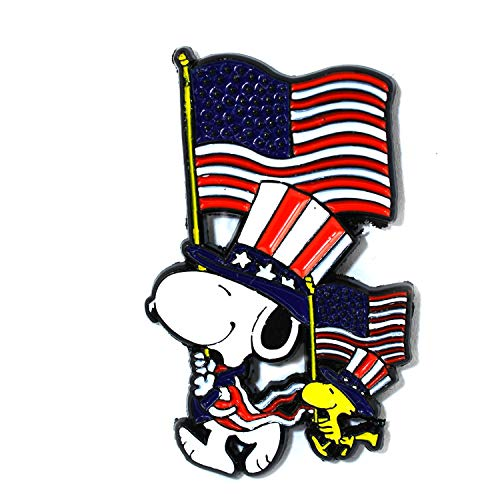 4th of July Snoopy Woodstock Nostalgia Collectible Pendant Lapel Hat Pin