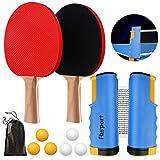 FBSPORT Sets de Ping Pong, Palas Ping Pong Set, Professionales 2 Raquetas,...