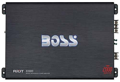 Boss Audio R2000M 2000 W Riot Monoblock - Amplificador de Potencia para...