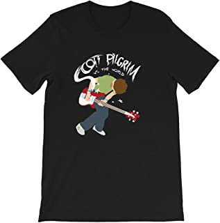 Scott Pilgrim vs The World Ramona Flowers Michael Cera Movie Bass Guitar Funny Gift for Men Women Girls Unisex T-Shirt
