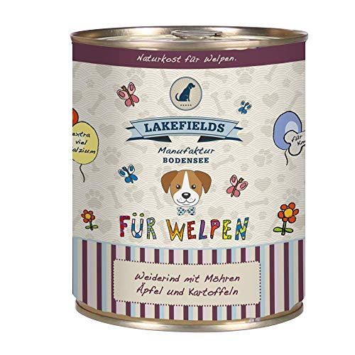 Lakefields Hochwertiges Premium Welpen Hundefutter (Rind, 1 x 800 gr)