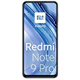 Xiaomi Redmi Note 9 Pro Smartphone, 6 GB + 128 GB, 6.67' DotDisplay, 64 MP AI Quad Camera, 5020mAh (typ) NFC, Grigio (Interstellar Grey)