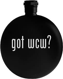 got wcw? - 5oz Round Alcohol Drinking Flask, Black