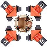 LLMZ Regolabile Morsetto Angolo Retto 4 Pezzi Morsetti ad Angolo Retto a 90 Gradi Morsetti ad Angolo Retto a 90 ° per Lavorazione del Legno,Armadi,Cassetti e Cornice