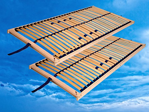 moebel-eins Set Rubin Doppelpack 2X Lattenrost, 70 x 200