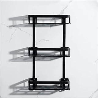 Antirouille Salle de bains douche étagère rack bain Rangement Porte Organisateur Aluminium 2 Tier Panier de rangement for ...