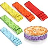 6 Pieces Colorful Bake Even Strip, Cake Pan Strips, Absorbent Thick Cotton Cake Strips, Baking Tray Protection Strap, Baking Warp for Clean Edges Baking
