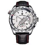 Smartwatches,Uhr Quarzuhr Multifunktions-Chronograph Sehen Sportmode Herrenuhr Litchi...