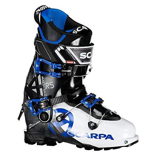 Scarpa M Maestrale RS Blau-Schwarz-Weiß, Herren Touren-Skischuh, Größe EU 46 - Farbe White - Black - Blue