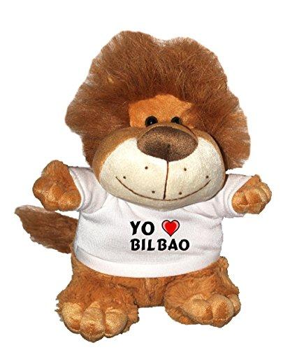 León de peluche (Fetzy) con Amo Bilbao en la camiseta (ciudad / asentamiento)
