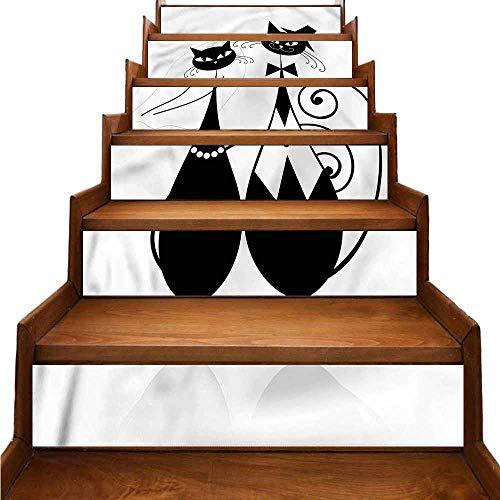 JiuYIBB Matrimonio Tradizionale Impermeabile Home Decor Line Art Monocromatico Sposa non tossico e nessun danno W 39' x H 7' x 6pcs Colore 06