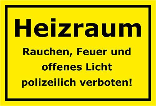 Melis Folienwerkstatt Aufkleber – Heizraum - 30x20cm – S00070-135-C -20 VAR
