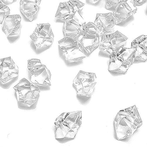 Dotters Clear Fake Crushed Ice Rocks, 150PCS Fake Diamonds Plastic Ice...