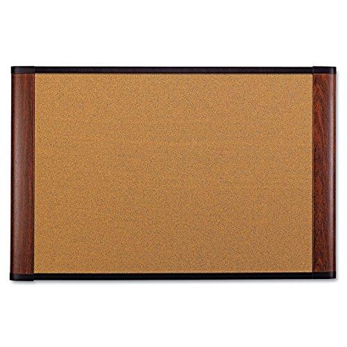 3M Cork Board, 72 x 48-Inches, Widescreen Mahogany-Finish Frame