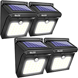 BAXIA TECHNOLOGY BX-SL-101 Solar Lights, Solar Powered Security Lights, Motion Sensing Security Lights, Home Security Lights, Home Security