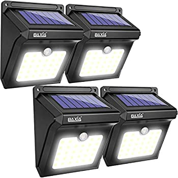 BAXIA TECHNOLOGY 12LED Outdoor Waterproof Wireless Solar Motion Sensor Night Lights